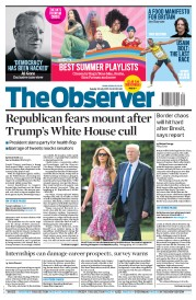 The Observer (UK) Newspaper Front Page for 30 July 2017