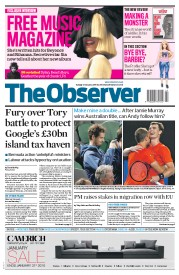 The Observer (UK) Newspaper Front Page for 31 January 2016