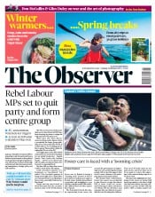 The Observer () Newspaper Front Page for 3 February 2019