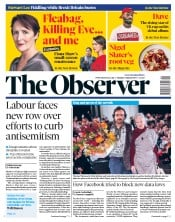 The Observer () Newspaper Front Page for 3 March 2019