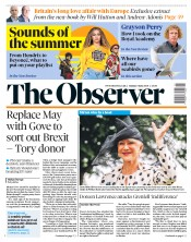 The Observer (UK) Newspaper Front Page for 3 June 2018