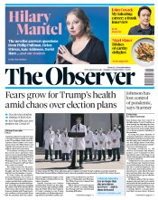 The Observer front page for 4 October 2020