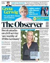 The Observer (UK) Newspaper Front Page for 4 February 2018