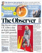 The Observer (UK) Newspaper Front Page for 4 March 2018