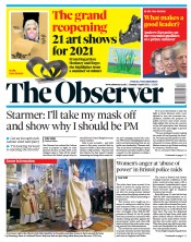 The Observer front page for 4 April 2021