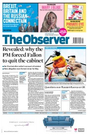 The Observer (UK) Newspaper Front Page for 5 November 2017