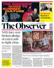 The Observer front page for 5 July 2020