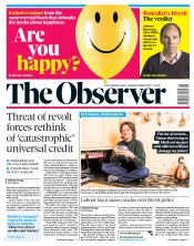 The Observer (UK) Newspaper Front Page for 6 January 2019
