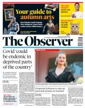 The Observer front page for 6 September 2020