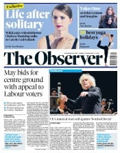The Observer (UK) Newspaper Front Page for 7 October 2018