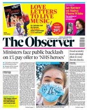 The Observer front page for 7 March 2021