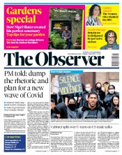 The Observer front page for 7 June 2020