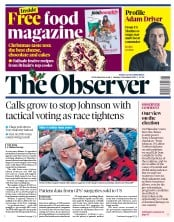 The Observer () Newspaper Front Page for 8 December 2019