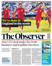 The Observer (UK) Newspaper Front Page for 8 July 2018