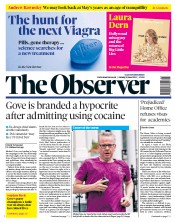 The Observer (UK) Newspaper Front Page for 9 June 2019