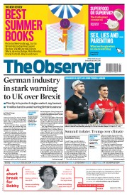 The Observer (UK) Newspaper Front Page for 9 July 2017