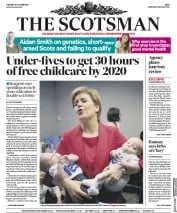 The Scotsman (UK) Newspaper Front Page for 10 October 2017