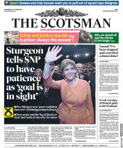 The Scotsman (UK) Newspaper Front Page for 10 October 2018