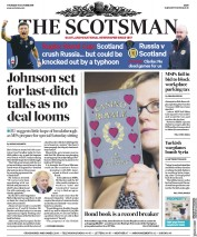 The Scotsman (UK) Newspaper Front Page for 10 October 2019