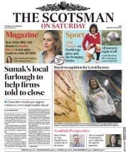The Scotsman (UK) Newspaper Front Page for 10 October 2020