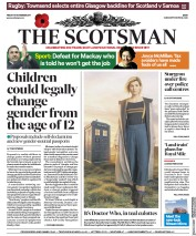 The Scotsman (UK) Newspaper Front Page for 10 November 2017