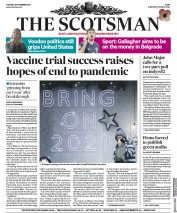 The Scotsman front page for 10 November 2020