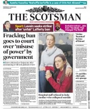 The Scotsman (UK) Newspaper Front Page for 10 January 2018