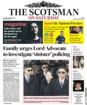 The Scotsman (UK) Newspaper Front Page for 10 February 2018