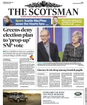 The Scotsman (UK) Newspaper Front Page for 10 May 2017