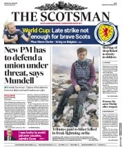 The Scotsman (UK) Newspaper Front Page for 10 June 2019