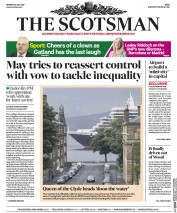 The Scotsman (UK) Newspaper Front Page for 10 July 2017