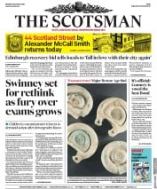 The Scotsman front page for 10 August 2020