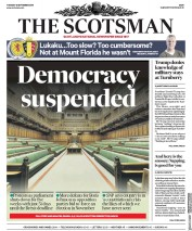 The Scotsman (UK) Newspaper Front Page for 10 September 2019