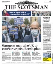 The Scotsman front page for 10 September 2020