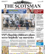 The Scotsman (UK) Newspaper Front Page for 11 October 2018