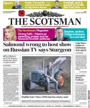 The Scotsman (UK) Newspaper Front Page for 11 November 2017