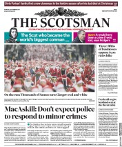 The Scotsman (UK) Newspaper Front Page for 11 December 2017