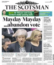 The Scotsman (UK) Newspaper Front Page for 11 December 2018