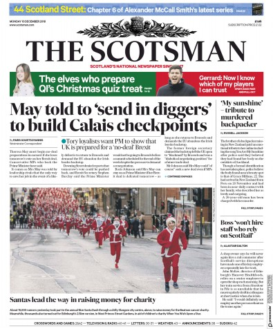 The Scotsman Newspaper Front Page (UK) for 11 December 2018