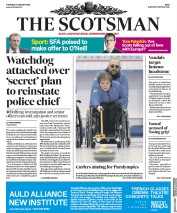 The Scotsman (UK) Newspaper Front Page for 11 January 2018