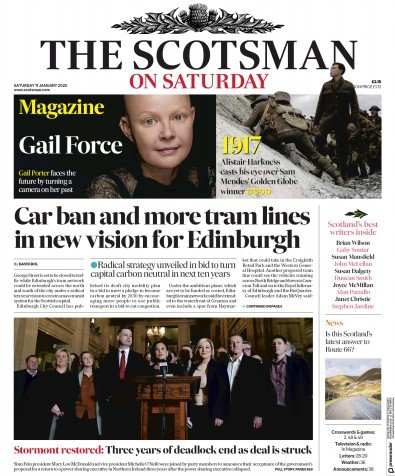The Scotsman Newspaper Front Page (UK) for 11 January 2020
