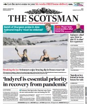 The Scotsman (UK) Newspaper Front Page for 11 January 2021