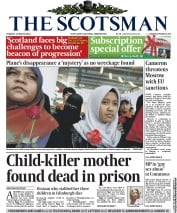 The Scotsman (UK) Newspaper Front Page for 11 March 2014