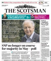 The Scotsman front page for 11 March 2021