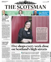 The Scotsman (UK) Newspaper Front Page for 11 April 2018