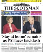 The Scotsman front page for 11 May 2020