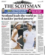 The Scotsman (UK) Newspaper Front Page for 11 July 2017