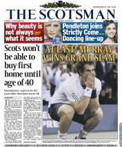 The Scotsman Newspaper Front Page (UK) for 11 September 2012