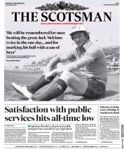 The Scotsman (UK) Newspaper Front Page for 11 September 2019