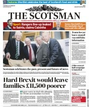 The Scotsman (UK) Newspaper Front Page for 12 October 2017